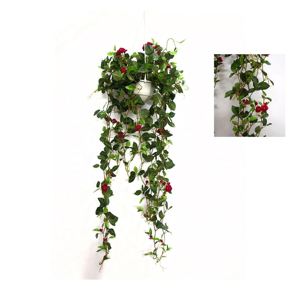 Double cottowood vine 94cm in hanging basket artificial Hanging basket flowers