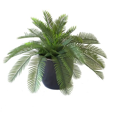 ARTIFICIAL CYCAD PALM 48CM COMPLETE WITH FIBREGLASS POT