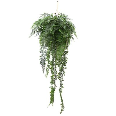 ARTIFICIAL MAIDENHAIR FERN BASKET 90CM