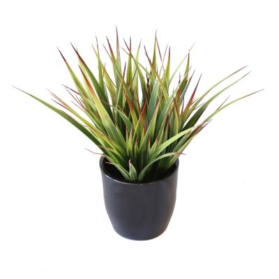 ARTIFICIAL GRASS BUSH 30CM COMPLETE WITH FIBREGLASS POT